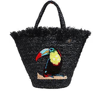 Uzurii Raffia Toucan Bag