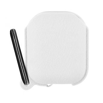 Airpods 1 and 2 Silicone Protective Case with Integrated Carabiner- White