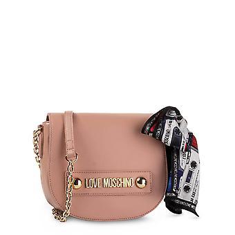 Love Moschino Original Women Fall/Winter Crossbody Bag - Pink Color 40635