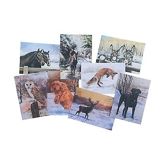 Cartes de vœux d'hiver Caroline Cook (Set of 16)