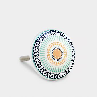 Keramik Türknopf - Blau / Grün - Positive Energie