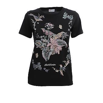Red Valentino Tr3mg04j4uc0no Women's Black Cotton T-shirt