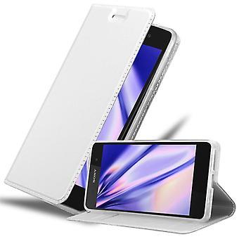 Cadorabo-fodral för Sony Xperia E5 fall täcka - Telefonfodral med magnetiskt lås, stå funktion och kortfack - Case Cover Protective Case Book Folding Style