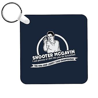 Happy Gilmore Shooter McGavin Breakfast Quote Keyring
