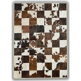 Rugs -Patchwork Leather Cubed Cowhide - Normandy Cow 3 colours