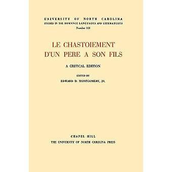 Le Chastoiement dun pre  son fils A Critical Edition by Alphonsi & Petrus