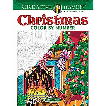 Creative Haven Christmas Color by Number by George Toufexis - 9780486