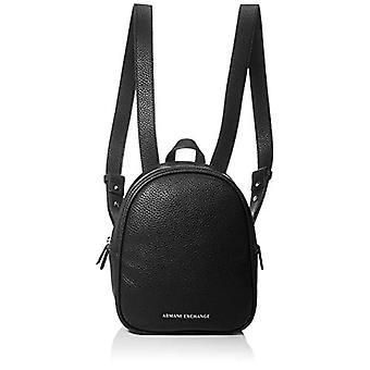 أرماني EXCHANGE المتوسطة - حقائب الظهر النسائية السوداء (أسود) 10x10x10 سم (W x H L)