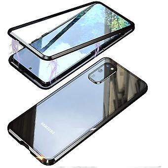 Mobiler Schutz doppelseitig gehärtetes Glas - Samsung S20 - Schwarz