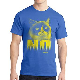 Grumpy Cat No Men's Royal Blue Funny T-shirt