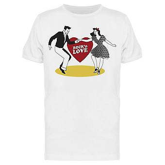 Rock And Love Couple Dancing Tee Men's -Image by Shutterstock