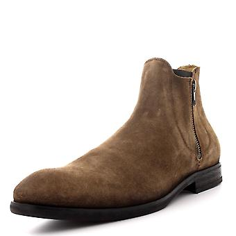 Mens H By Hudson Mitchell Casual Zip Work Smart Ankle Shoes Suede Boots
