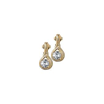 Jacques Lemans - Studs sterling silver plated with White Topaz - SE-O107H