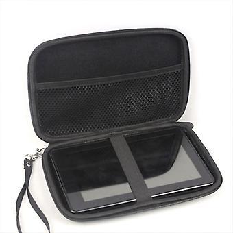 Pro Navman Mio Moov 410 Carry Case Hard Černá S Příslušenství Příběh GPS Sat Nav