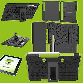 Für Samsung Galaxy Tab S6 Lite P610 P615 Hybrid Outdoor Schutzhülle Grün Tasche + 0.3 H9 Schutzglas