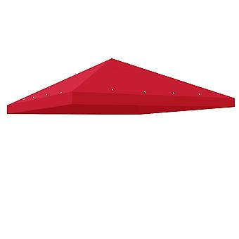 Yescom 10'x10' Gazebo Top Replacement for 1 Tier Outdoor Canopy Cover Patio Garden Yard Red Y0041002