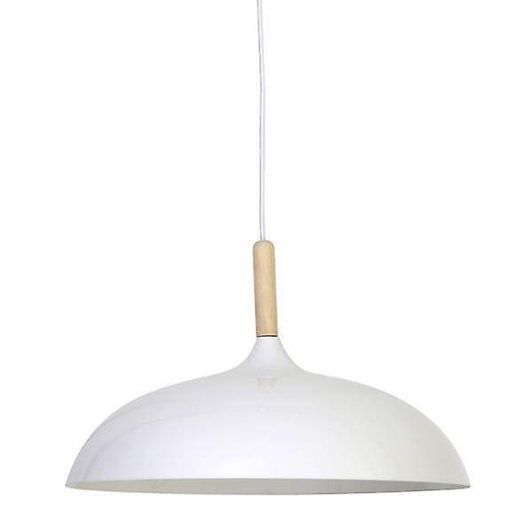 Hanging Lamp Derika White & Wood