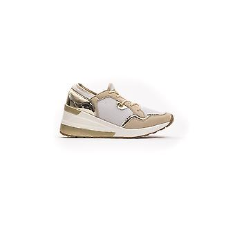 Greenhouse Polo Beige Laced Laminate Effect Sneakers