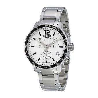 Tissot T095.417.11.037.00 Quickster Chronograph Silver Dial Miehet's Watch