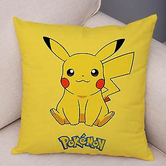 45x45cm Classic Game Pokemon Pikachu Cushion Cover - Decor Colorful Cartoon Pillowcase