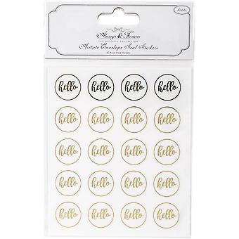 Craft Consortium Acetat Envelope Seal Klistermærker - Hej