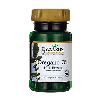 Oregano Oil 10:1 Extract 150 mg 120 softgels