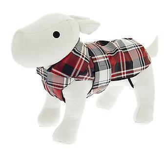 Ferribiella двойной дождь пальто 24 см тартан (собаки, Одежда для собак, плащи)