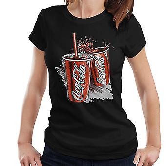 Coca Cola retro Coke cups naisten T-paita