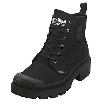 Palladium Pallabase Twill Womens Casual Boots in Black Black