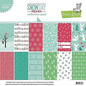 Lawn Fawn Snow Day Remix 12x12 Inch Collection Pack