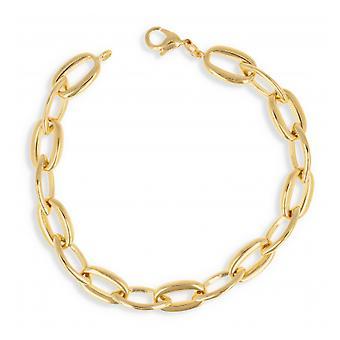 Banhado a ouro colar malha oval 60cm