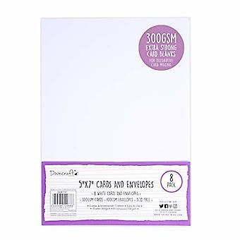 Cartes et cartes 5x7 pouces Dovecraft White 5x7 Inch; Enveloppes