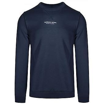 Marshall Artist Navy Blue Crew Neck Sweatshirt