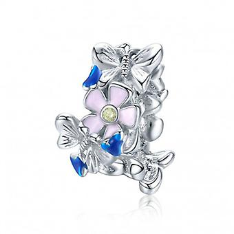 Sterling Silver Charm Colorful Garden - 6754