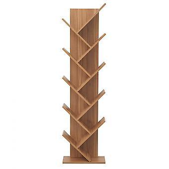Rebecca Mobili Scaffale Libreria 10 Mensole Legno Marrone Moderno 160x44,5x22