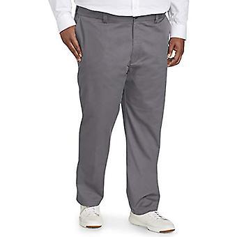 Essentials Men's Big & Tall Athletic-fit rugosa-resistente Flat-Front ...