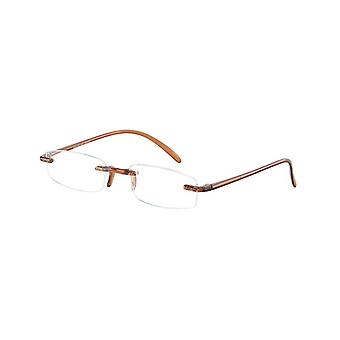 Reading Glasses Unisex Memory Brown Thickness +4.00 (le-0103D)