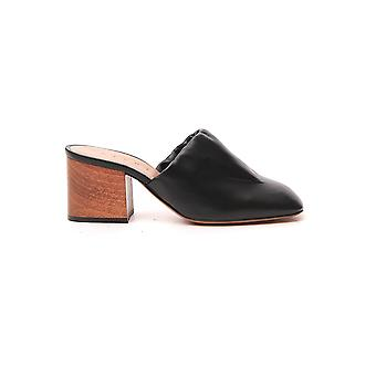 Mara Bini Sbms002106p338700n99 Dames's Black Leather Slippers