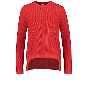 Taifun Red Ribbed Malha jumper