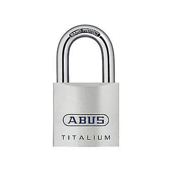 ABUS 80TI/50mm TITALIUM riippulukko näppäiminen sekä KA8012 ABUKA56236