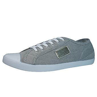 Firetrap Charlie Plate Mens Canvas Trainers / Shoes - Grey