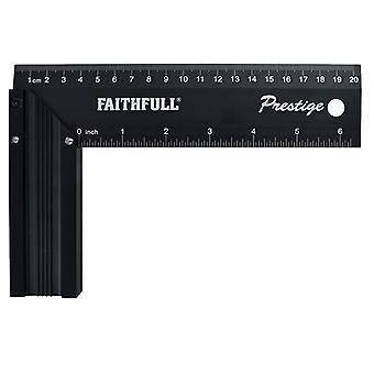 Faithfull Prestige Try Square Black Aluminium 200mm (8in) 718L20