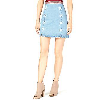 Sage the Label | Lace-up Denim Skirt