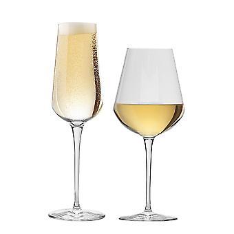 Bormioli Rocco Inalto Uno Pieni viinilasi & Samppanjahuilu - 12 lasin setti