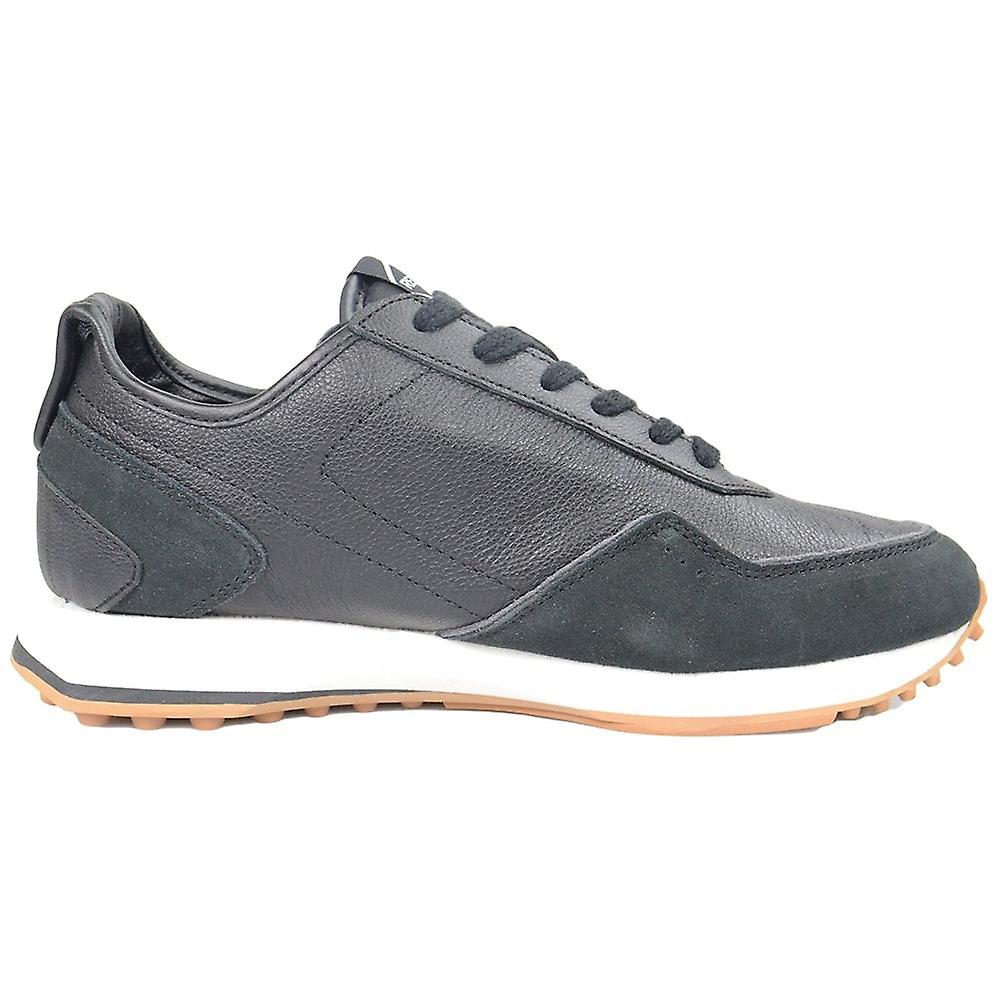 Replay Svart Skinn Sneaker Trener