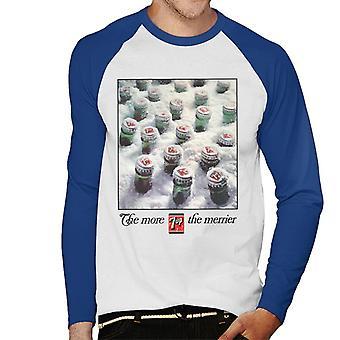 7up The More 7up The Merrier Men's Baseball Long Sleeved T-Shirt
