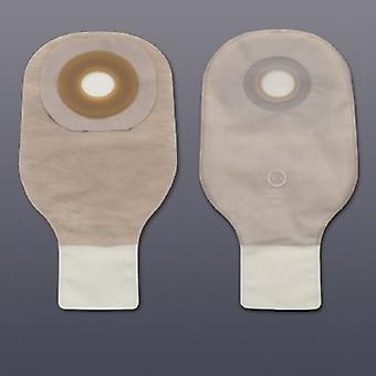 Hollister Colostomy Pouch Premier Flextend One-Piece System 12 Inch Length 3/4 Inch Stoma Drainable, Transparent 5 Count
