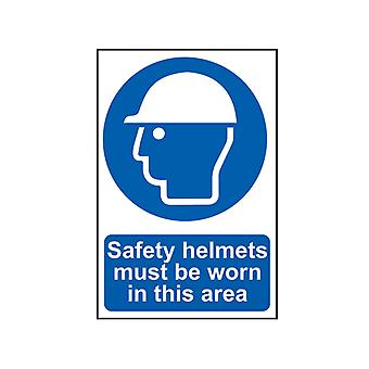 Scan Safety Helmets Must Be Worn In This Area - PVC 400 x 600mm SCA4000