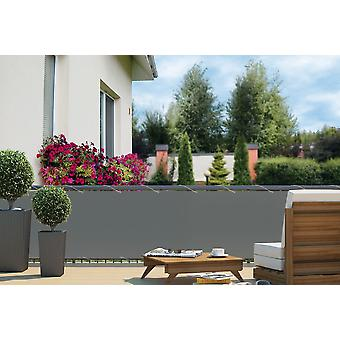 Balcony view protection Balcony cladding Grey 24 m Cord Dimensions: 6 x 0.9 m Polyester