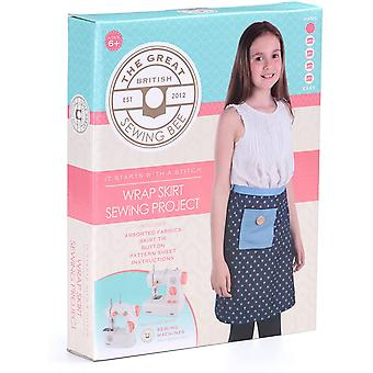 Great British Sewing Bee: Wrap Skirt Kit - Kids Sewing Project